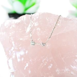 BaubleBar Pavé Arrow Necklace